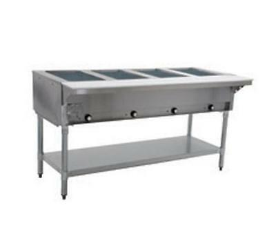 Eagle Group 4-Well Stationary Gas Hot Food Table W/ Galvanized Shelf - Ht4-1X