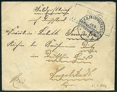 110/DP China Brief Feldpost KD Feldpostexpedition b 15/3/1901 Ingolstadt