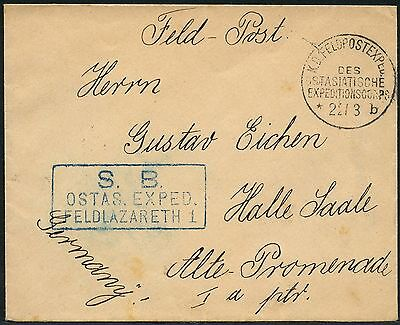 119/DP China Brief Feldpost KD Feldpostexpedition b 22/3/1901 Feldlazarett Halle