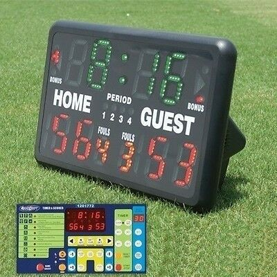Tabletop Scoreboard With Remote Control For Indoor Or Outdoor