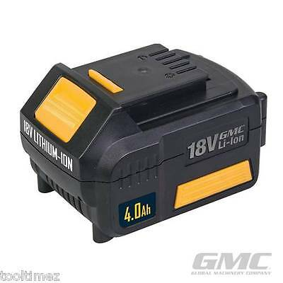 18V Li-Ion Batteries  GMC 4.0Ah REPLACEMENT FOR DRILL MACHINE POWER  739798