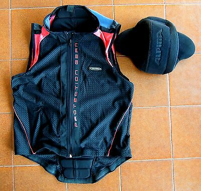 ALPINE Action Vest Pro Spine Guard & Hat- Snowboard,Ski,Back Protection M/L