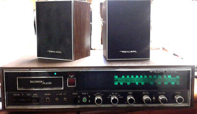 Teledyne Packard Bell Tuner Amp. 8 track  D05201 + Realistic 40-1995A speakers