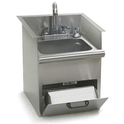 Eagle Group HWB-E SS Drop In Hand Sink w/ Encore Deck Mounted Faucet NSF