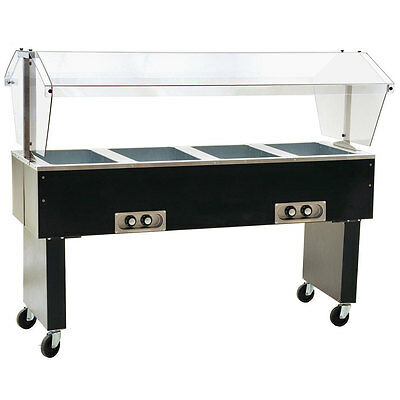 Eagle Group BPDHT4-X Deluxe Serving Mate 4-Well Electric Hot Food Table / Buffet