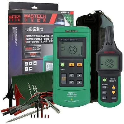 Mastech MS6818 Wire Cable Metal Pipe Locator Detector Tester Line Tracker USA