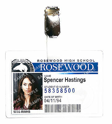 Pretty Little Liars Spencer Hastings ID Badge Cosplay Prop Costume Christmas