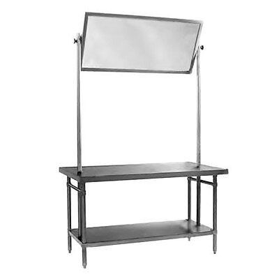 Eagle Group 36x60 Supermarket Educational Stainless Demo Table w/ Mirror