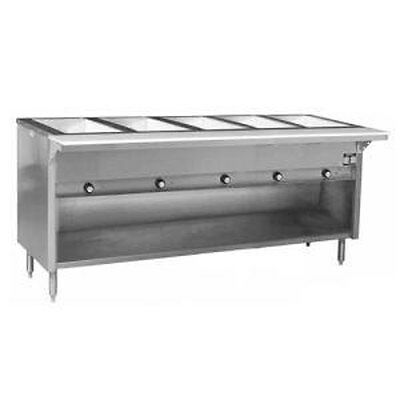 Eagle Group SWT5 5-Well Electric Steam Table w/ S/S Shelf & Legs
