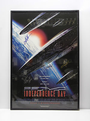 "Independence Day Cast Autographed/Signed Poster - (27""x40"")"