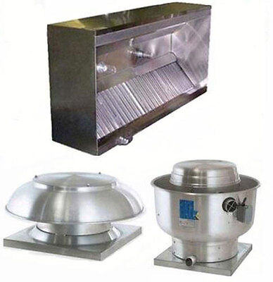 Superior Hoods 7ft ETL Listed Hood System w/ Make-Up Air & Exhaust Fans