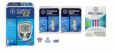 Contour Next Starter Kit with Meter, Colored Lancets and 100 Test Strips.