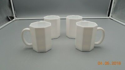 Arcopal France Octime Set Of 3 White Coffee Mugs