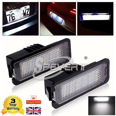 2 x LED License Number Plate Light Canbus Free Fit VW GOLF MK4 MK5 MK6 Passat