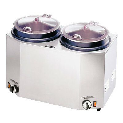 Tomlinson Industries 1014788 Dual 12 Quart Soup Food Warmer Stainless Exterior
