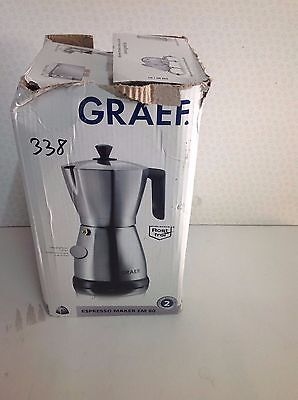 Graef  EM80 Electric Cordless Espresso Coffee Maker in Silver A1 condition