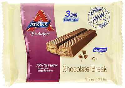 Atkins endulge Chocolate Break pack of 3x21.5g bars
