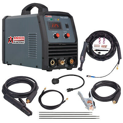 TIG-225, 220 Amp High Frequency TIG Torch, Stick ARC DC Welder, 115/230V Welding