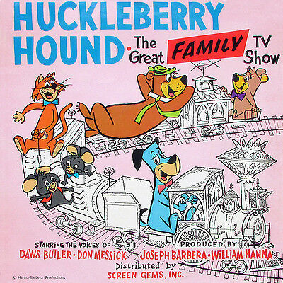 Huckleberry Hound - The Great Family TV Show **RARE1959 LP** VG+/VG