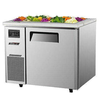 "Turbo Air JBT-36 36"" Refrigerated Buffet Display Table Stainless With Casters"