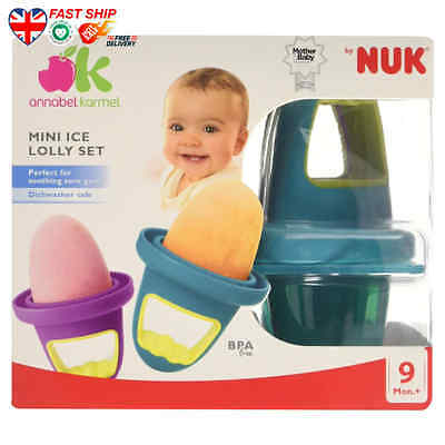 Annabel Karmel by NUK mini Ice Lolly Moulds FAST Ship UK BUY NOW Top Quality