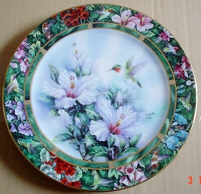 W S George Collectors Plate THE RUBY-THROATED HUMMINGBIRD