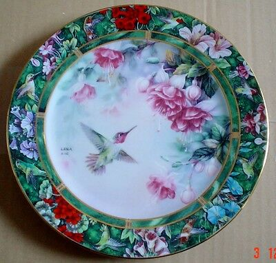 W S George Collectors Plate THE ANNA'S HUMMINGBIRD