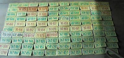 VINTAGE 1970'S OKLAHOMA LICENSE PLATE LOT OF 100 ARTS CRAFTS BIRDHOUSE abc1