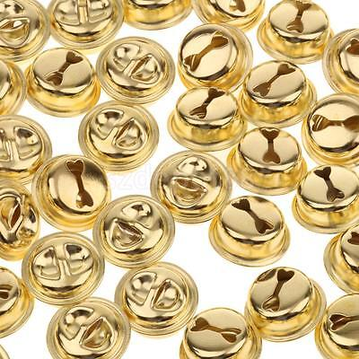 100 GOLD Jingle Bells Pet Bells Charms Findings for DIY Jewelry Making