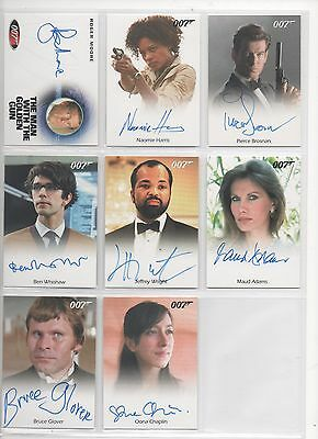 James Bond- 2016 Classics Autograph Card Full Bleed Whishaw/q