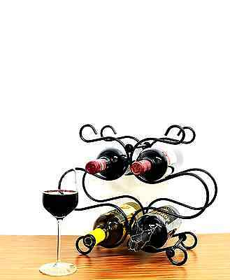 Superiore Livello Florence Metal 6 Bottle Countertop Wine Holder with Standing R