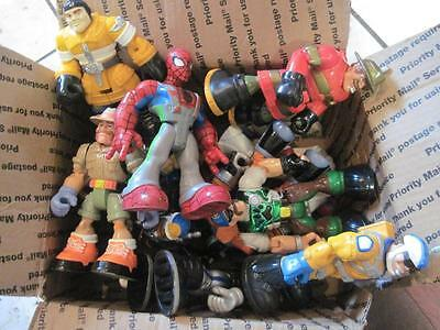 Fisher Price Rescue Heroes Chunky Articulated Action Figures Lot 13 FREE SHIP!