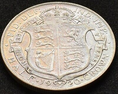 1920 Half Crown. Good Grade With Some Lustre. George V British Silver Coins
