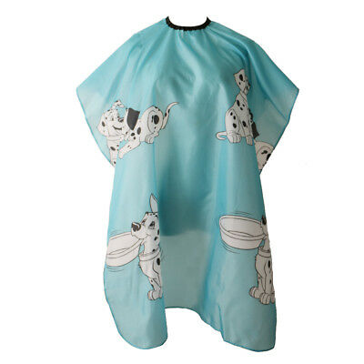 Kids Barber Gown Cloth Hair Cutting Hairdressing Cape Silk Styling Pro Salon