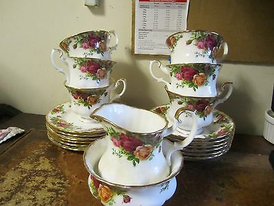 Royal Albert Old Country Roses 20 Piece Tea Set 2nd Quality VGC