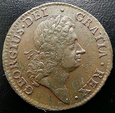 1723 Hibernia Half Penny. Woods Coinage. British Milled Coins. Freepost.