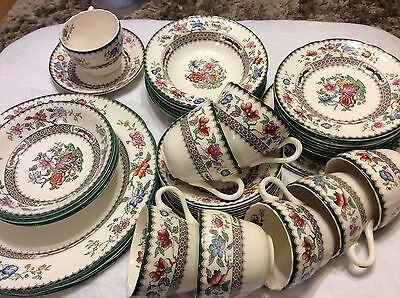 Copeland Spode cups saucers  dinner tea plates bowls CHINESE ROSE