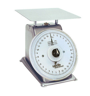 Update UPS-72R Stainless Steel 2lb Capacity Scale w/ 7in Rotating Dial
