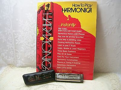 FREE SHIP ~ NEW 1985 HOHNER Harmonica & Case & How to Play Instruction Book