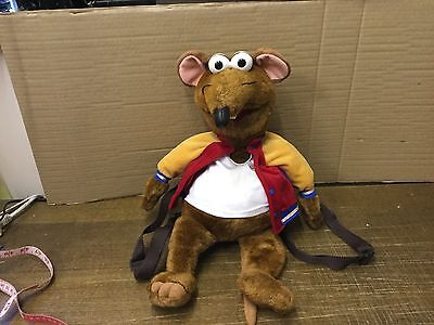 "MUPPETS RIZZO 22"" PLUSH BACKPACK BAG by Giftware *MINT CONDITION* Jim Henson VTG"