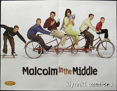 Malcolm in the Middle Poster Centerfold 2661A The Simpsons on back
