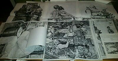 Lot of 6 NORMAN ROCKWELL TRICHEM CHARTS with instructions