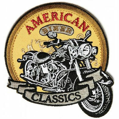 Embroidered Iron Or Sew On Cloth Biker Vest Patch ~ American Classic ~