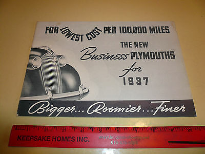 1937 Plymouth Sales Brochure - Vintage - New Plymouth Plymouths