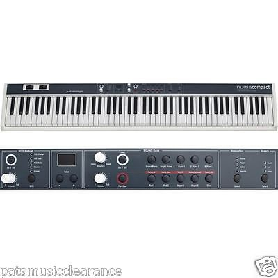 Studiologic Numa Compact 88 note weighted keyboard. 10 sounds inbuilt