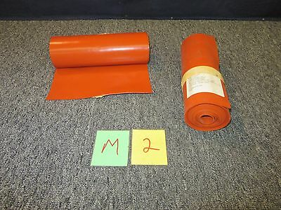 """2 Silicone Rubber Sheet 1/16"""" 9.5"""" 10' Feet High Temperature Aircraft Military"""