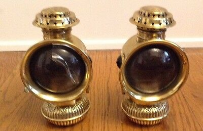 """Vintage Pair of Bicycle Oil Lamp  """"THE EVERLITE"""" BY EDWARD MILLER CO"""