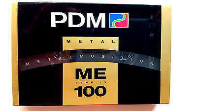 CASSETTE TAPE BLANK SEALED - 1x (one) PDM METAL 100 (type IV) [1990] - (PHILIPS)