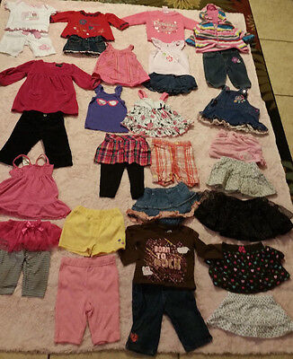 Mixed Lot of 29 Baby Girl Clothes Newborn-0/3M-3/6M-6M-6/9M-9M