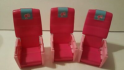 Barbie 1999 Jumbo Jet Glam Airplane PINK  REPLACEMENT Seats t6